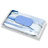 TENA Wet Wipe with plastic lid