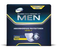 TENA Men Protection Absorbante Niveau 2 avec packshot à absorption intermédiaire