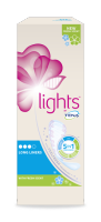 lights by TENA Scented Liner for small urine leaks