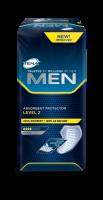 """""""TENA MEN Level 2"""" apsauginiai įklotai – apsauga vyrams patiriantvidutinio gausumošlapimoištekėjimus."""