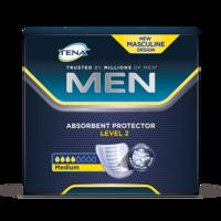 TENA Men Absorbent Protector Level 2 – Зображення продукту, крупний план, середній рівень поглинання