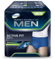 Meeste imavad aluspüksid TENA Men Active Fit Pants Plus foto pakendist