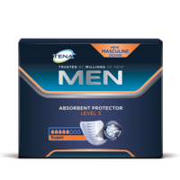 TENA Men Absorbent Protector Level 3 TENA Men Absorbent Protector for security against urinary leaks and surges