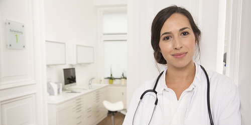 Portrait of a smiling doctor at medical practice