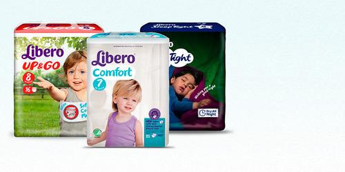 En bild på tre inkontinensprodukter från produktsortimentet TENA Barn.